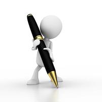 writer big pen CHANGE