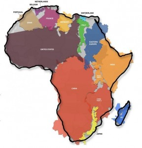 Africa real size