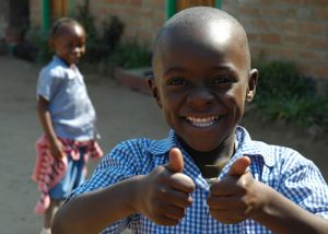 thumbsup african kid
